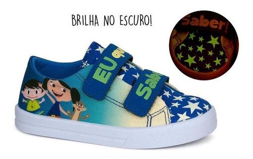 Tênis Infantil Baby Soft Luna Sugar Shoes Cor Azul - Nº26
