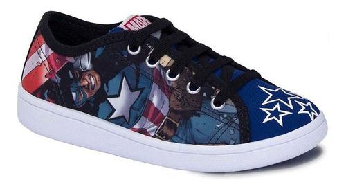 Tênis Infantil Capitão América Vingadores Sugar Shoes - Nº27