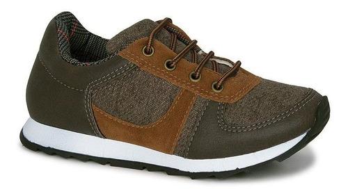 Tênis Infantil Diversão Boy Marrom Sugar Shoes - N°28