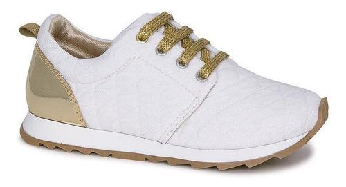 Tênis Infantil Diversão Runner Sugar Shoes Cor Branco - N°28