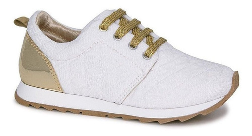 Tênis Infantil Diversão Runner Sugar Shoes Cor Branco - N°33