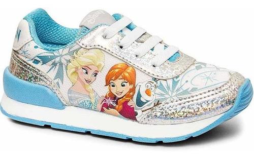 Tênis Infantil Feminino Jogging Frozen Sugar Shoes - N°35