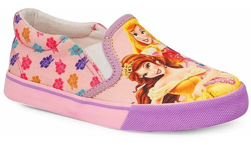 Tênis Infantil Iate Feminino Princesas Disney Sugar Shoes - N°29