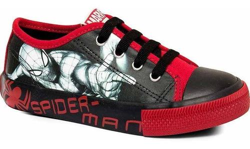 Tênis Infantil Masculino Homem Aranha Sugar Shoes - N°31