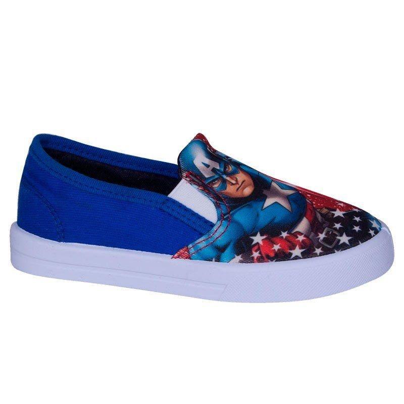 Tênis Infantil Soft Capitão América Diversão Sugar Shoes - N°20