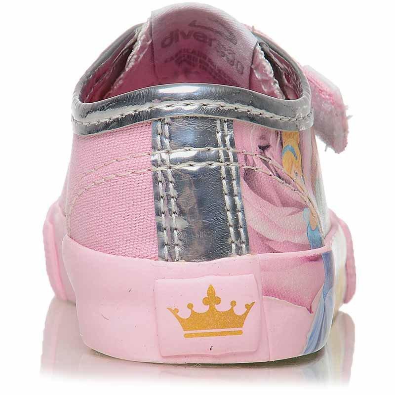 Tênis Infantil Velcro Feminino Princesas Disney Tamanho:Nº30
