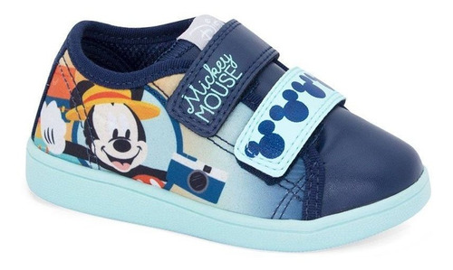 Tênis Infantil Velcro Mickey Disney Sugar Shoes - N°23