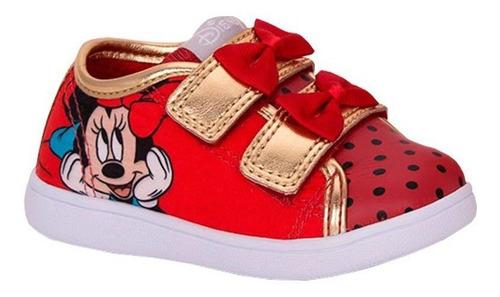 Tênis Infantil Velcro Minnie Diversão Sugar Shoes - N°21