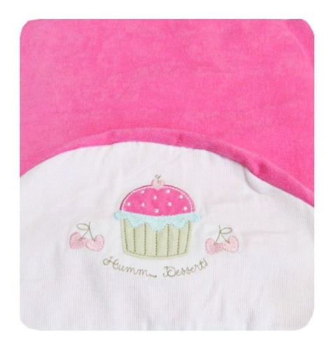 Toalha De Banho Infantil Cupcake Classic For Baby Cor Rosa