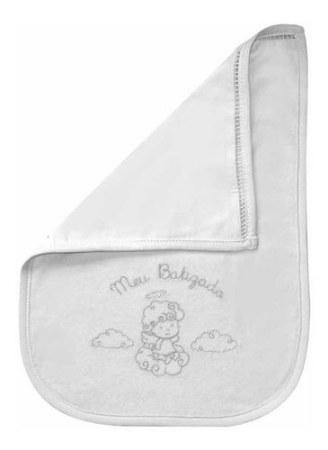Toalha Meu Batizado Atoalhado Prata Classic For Baby Prata