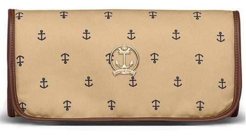 Trocador Portátil Navy Sarja Classic For Bags Cor Caramelo