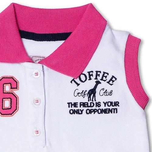 Vestido Infantil Gola Polo Toffee - Nº06