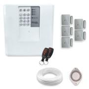 Kit Alarme Residencial Bopo 5 Sensores Magnéticos Sem Fio