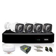 Kit Câmera de Segurança 4 Câmeras Full Hd Bullet 1080p HVR 4 Canais Giga