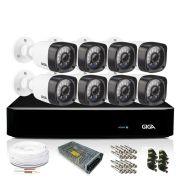 Kit Câmera de Segurança 8 Câmeras Bullet 1080p CFTV Giga Full HD HVR 8 Canais