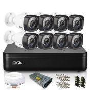 Kit Câmera de Segurança 8 Infra Bullet 720p DVR 8 Canais Lite Giga