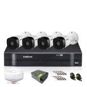 Kit Câmeras de Segurança Intelbras Dvr 8 Câmeras e 4 Infra Vhd 1010 B