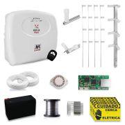 Kit Cerca Elétrica JFL Haste Estrela 4 Isoladores 90 Metros por App Celular