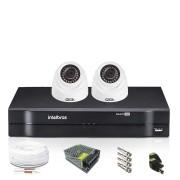 Kit CFTV 2 Câmeras Dome HB 720p DVR Intelbras 4 Canais