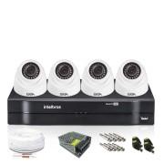 Kit 4 Câmeras de Segurança Giga Dome 720p DVR Intelbras
