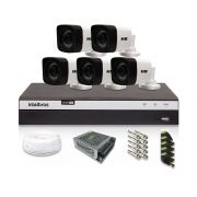 Kit CFTV 5 Câmeras Bullet HB 1080p DVR Intelbras 8 canais