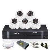 Kit 5 Câmeras de Segurança Giga Dome 720p DVR Intelbras