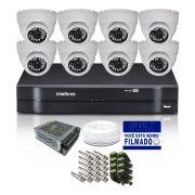 Kit CFTV 8 Câmeras Dome HB 720p DVR Intelbras 8 Canais