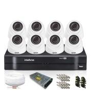 Kit 8 Câmeras de Segurança Giga Dome 720p DVR Intelbras