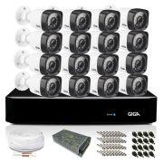 Kit CFTV Giga com 16 Câmeras Bullet 720p DVR 16 Canais