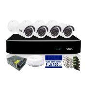 Kit CFTV Giga Orion com 4 câmeras Bullet 720P DVR 4 Canais
