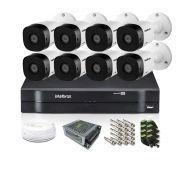 Kit CFTV Intelbras com 8 Câmeras Bullet 720p DVR 16 Canais