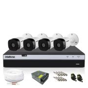 Kit CFTV Intelbras Full HD 4 Câmeras VHD 1220B DVR MHDX 3104
