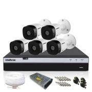 Kit CFTV Intelbras Full HD 5 Câmeras VHD 1220B DVR MHDX 3108