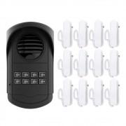 Kit Interfone Coletivo AGL 12 Pontos S300 Com 12 Monofones