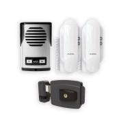 Kit Interfone Porteiro Coletivo 2 Pontos AGL + Fechadura 12V