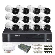 Kit Monitoramento Intelbras com 12 Câmeras de Segurança 1080p
