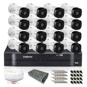 Kit Monitoramento Intelbras com 16 Câmeras de Segurança 720p