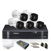 Kit Monitoramento Intelbras com 5 Câmeras de Segurança 720p