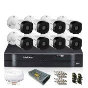 Kit Monitoramento Intelbras com 8 Câmeras de Segurança 720p