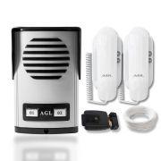 Kit Interfone Coletivo 2 Pontos AGL com Fechadura Elétrica e Cabo