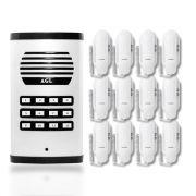 Kit Porteiro Eletrônico Coletivo AGL 12 Pontos Com 12 Monofones