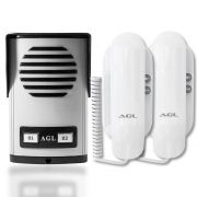 Interfone Coletivo AGL 2 Pontos Com 2 Monofones