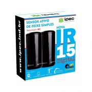 Sensor Ativo de Barreira IPEC IR 15 Digital Feixe Simples