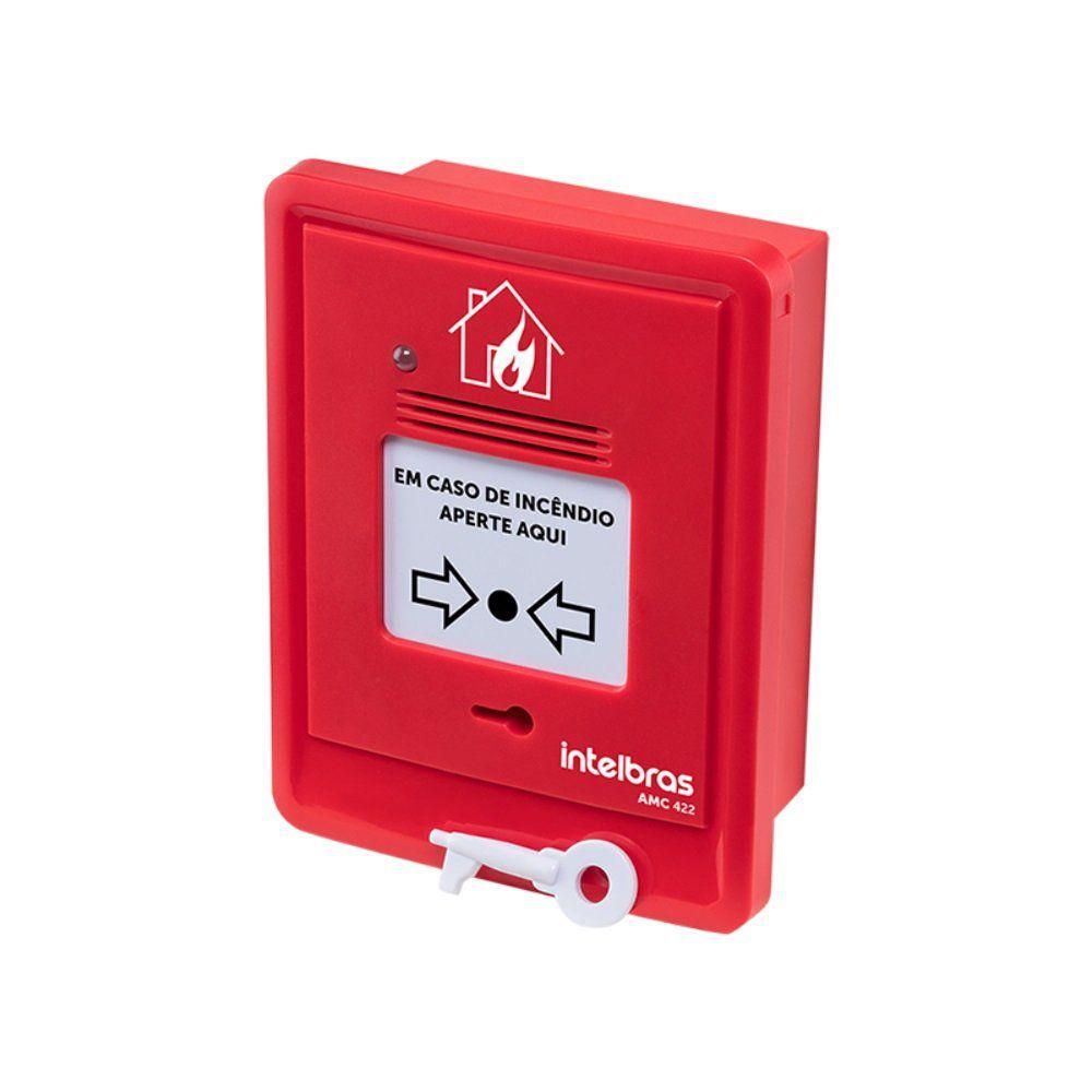 Acionador Manual de Alarme de Incêndio Intelbras AMC 422 Com Sirene