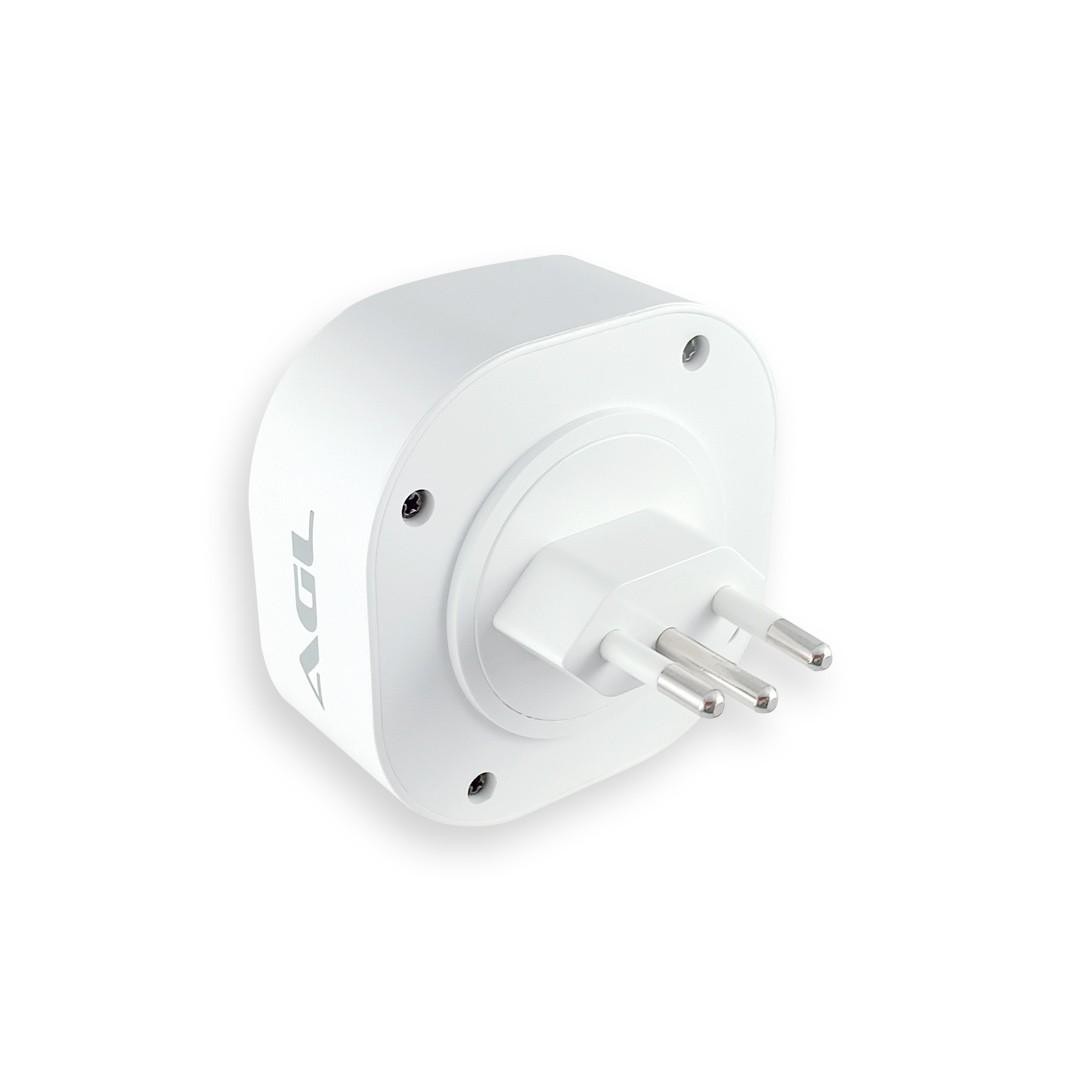 Adaptador de Tomada Inteligente WiFi AGL Bivolt 10A
