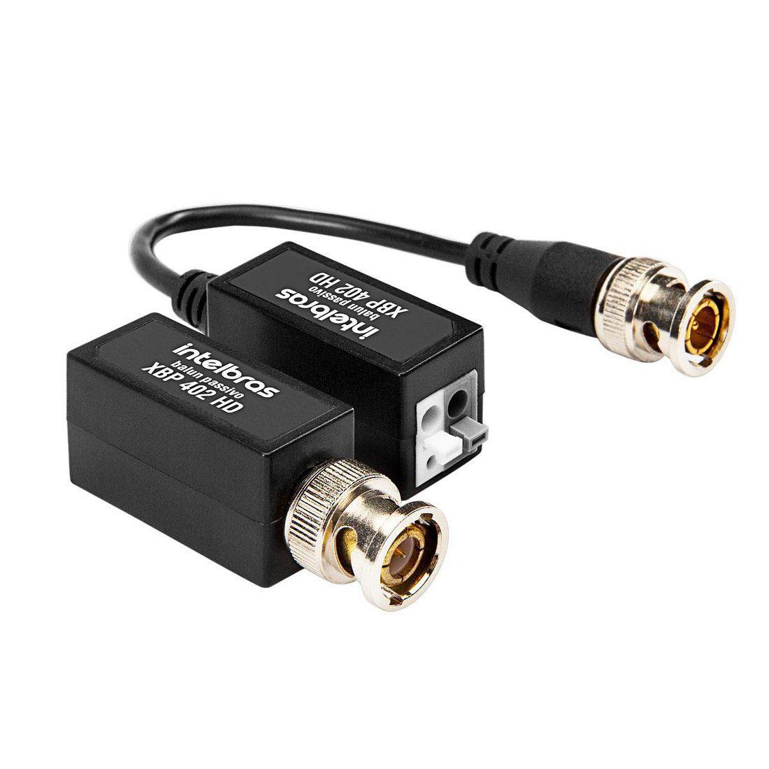 Balun Passivo Intelbras XBP 402 HD Conversor de Sinal