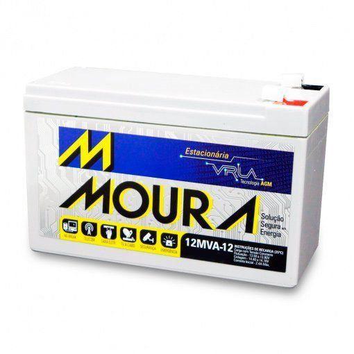 Bateria Selada Estacionária Moura 12V 12A VRLA Nobreak