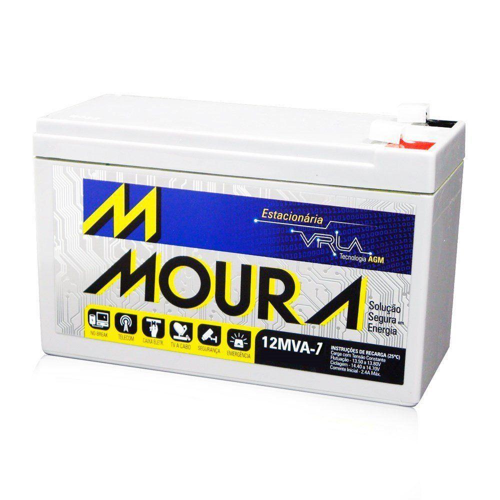 Bateria Selada Estacionária Moura 12V 7A VRLA Nobreak