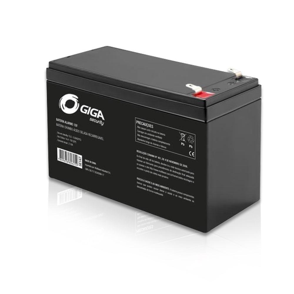 Bateria Selada 12V para Central de Alarme e Cerca Elétrica Giga
