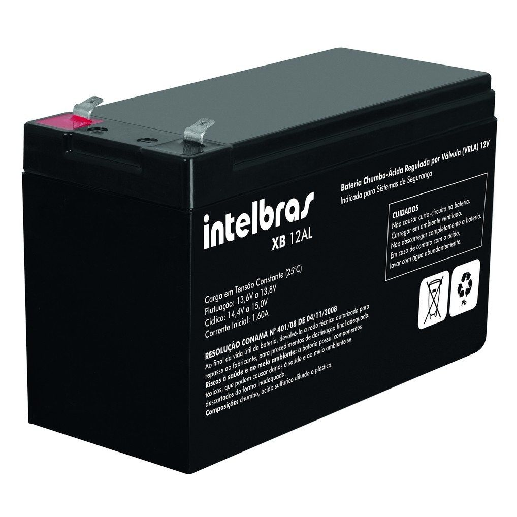 Bateria VRLA Intelbras XB 12AL para Sistemas de Alarme